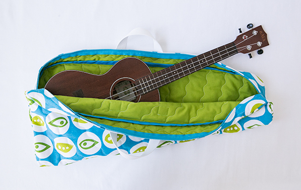 quilted ukulele bag