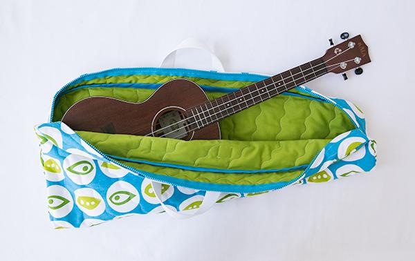 quilted ukulele bag