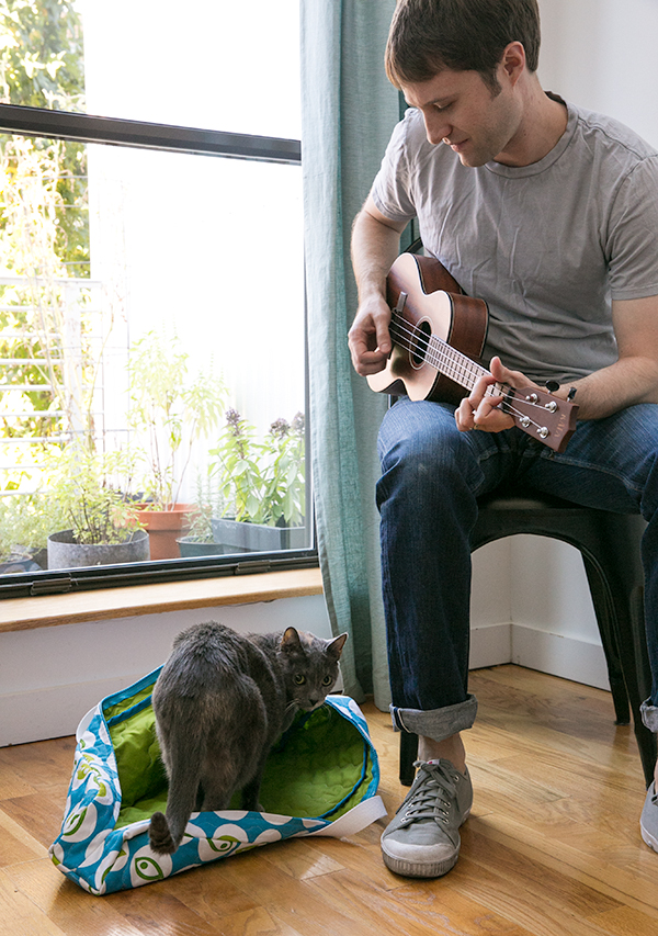 quilted ukulel bag, cat bed