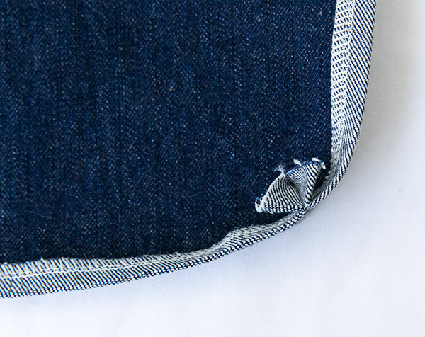 zip pocket corner seam