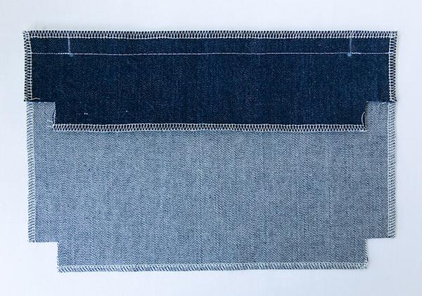 zipper pocket seam