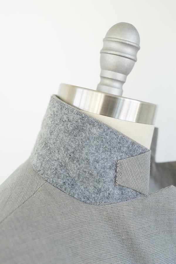 jacket felt under collar