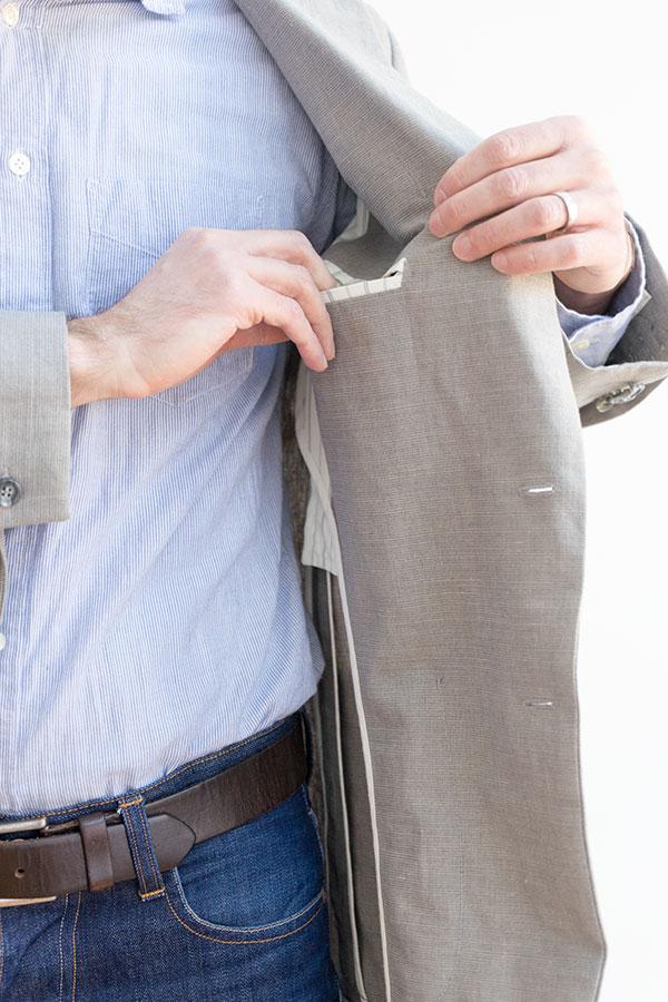 jacket inside welt pocket