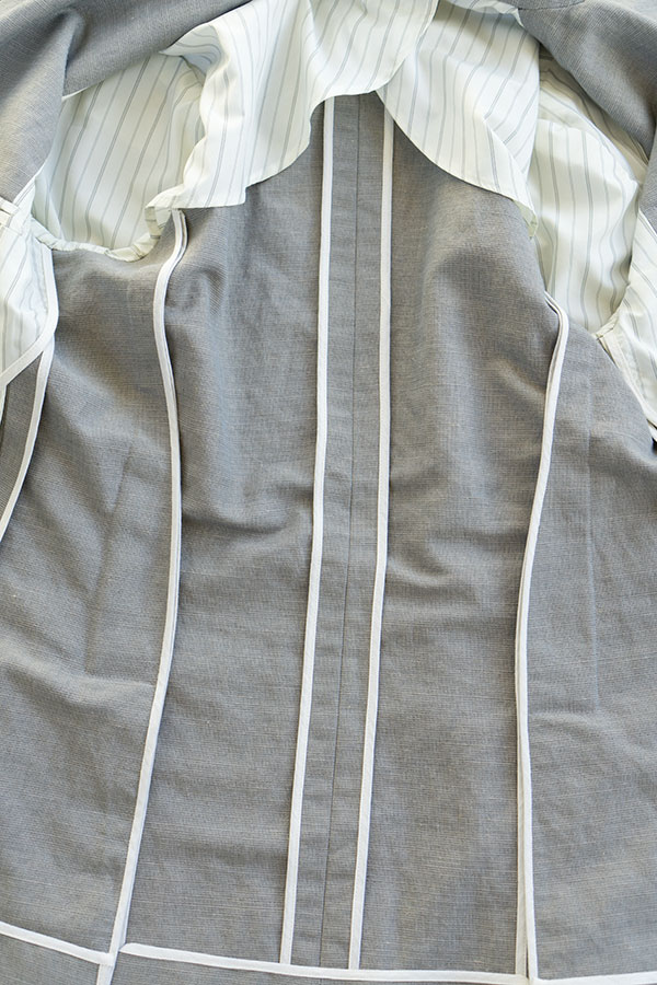 jacket inside seams