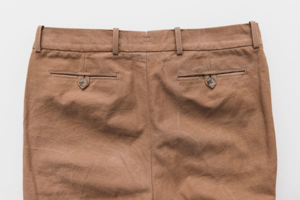 Chinos welted pockets