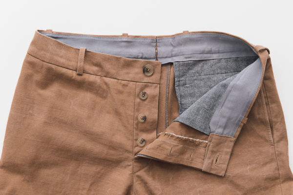 Chinos button fly