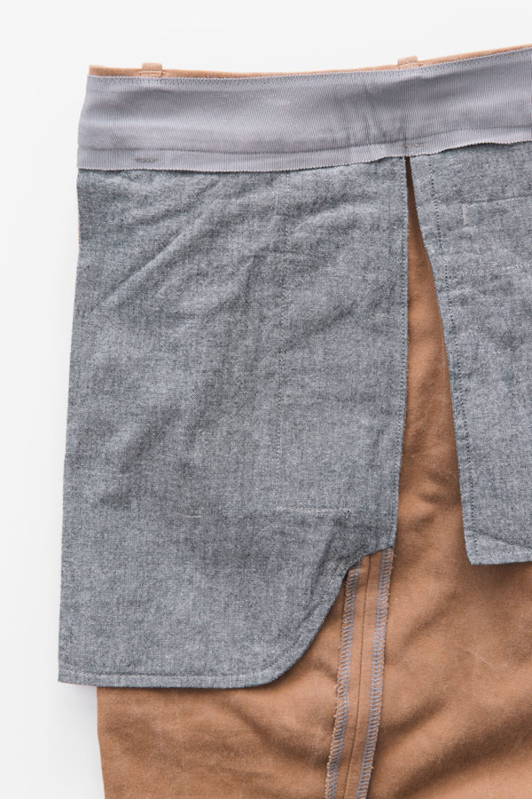 Trousers front pocket finish