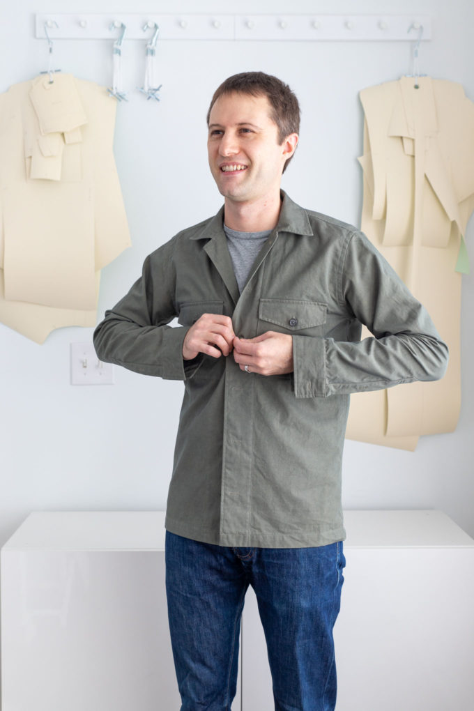 buttoning overshirt