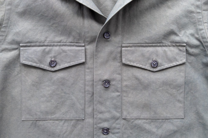 overshirt pocket with flaps